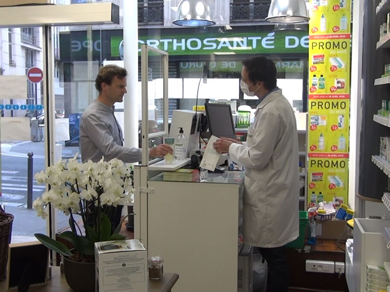 Écran de protection Pharmacie vue côté