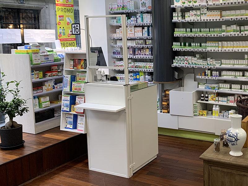 Écran de protection Pharmacie vue face