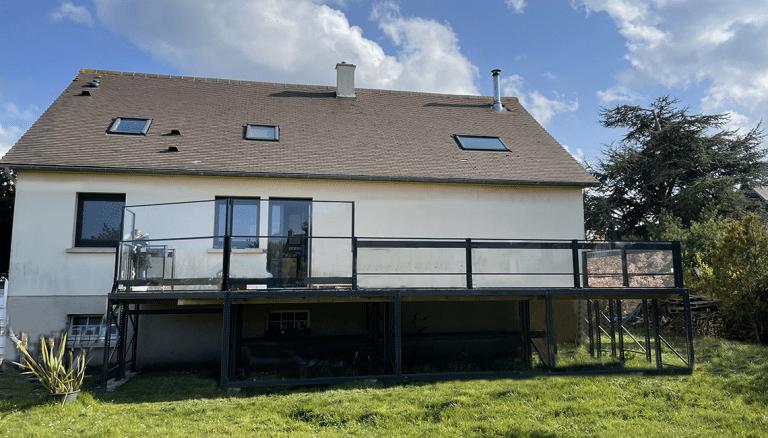 Un garde-corps pour terrasse sur pilotis